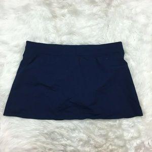 Lands End Women's Navy Blue Swim Bottom Skirt